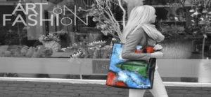 achtergrond art on fashion tas