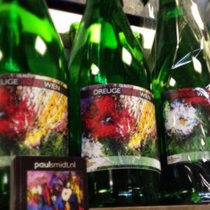 achtergrond flessen wijn